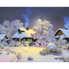 Cheap mosaic pictures, Buy Quality diamond painting directly from China diamond embroidery Suppliers: ZOOYA Needlework Diamond Painting Beautiful Snow Winter Landscape Diamond Embroidery All Drill Rhinestone Mosaic Picture Mosaic Pictures, Wall Art Pictures, Landscape Walls, Winter Landscape, House Landscape, Landscape Model, Painting Snow, Diy Painting, House Painting