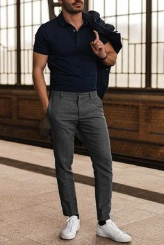 Simple outfits for men mens smart casual outfits, simple outfits, casual wear for men Mens Casual Work Clothes, Mens Smart Casual Outfits, Smart Casual Menswear, Casual Wear For Men, Simple Outfits, Men Shoes Casual, Smart Casual Man, Clothes Swag, Diy Outfits