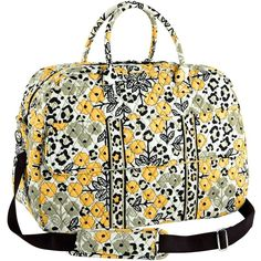 Vera Bradley Grand Traveler Bag in Go Wild ($90) ❤ liked on Polyvore featuring bags, luggage, go wild, patterns and ziggy zinnia