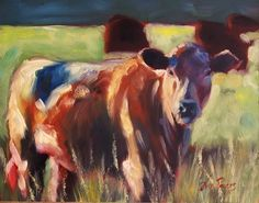 Tina Powers - When the Cows Come Home - Oil