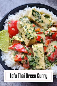 Skip the takeout tonight and make this authentic Tofu Thai Green Curry in the comfort of your own home.
