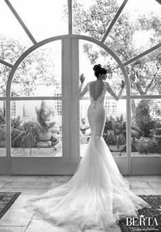 Backless, Long Sleeved and Sexy? Not to miss wedding dresses in the Sizzling Summer 2015 Collection Première from BERTA on confettidaydreams.com/berta-wedding-dresses-2015/ now!