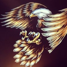 A little more progress on the new eagle design #eagle #art #absorb81 #zubiewear #illustration #union
