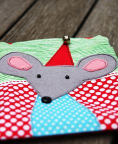 Christmas mouse zippy pouch from Scandinavian Stitches | Flickr - Photo Sharing!