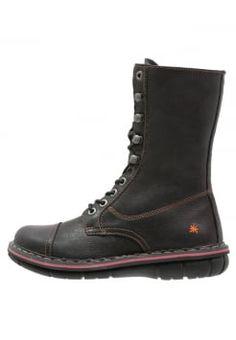 Art - ASSEN - Stivali con i lacci - black