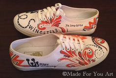 School Spirit Shoes Sachse Mustangs Custom Shoes by M8d4uArt, $170.00