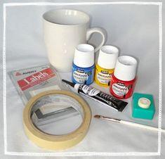 Homemade Gifts For Dad: Painted Coffee Mug -
