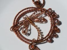 Copper Dragonfly Copper Sun Catcher by littlebead on Etsy