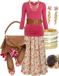 Pink and roses, I want this outfit so bad. I think that Robert needs to buy it for me.