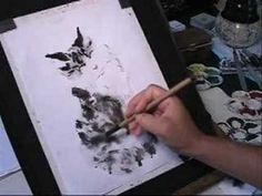 How to draw Tabby Cat in Chinese Brush Painting or Sumi-e