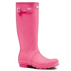 Hunter Original Tall Ladies Wellington Boots UK9 EU43 US11 Bright Cerise -  http://
