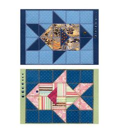 Little Fish Paper Quilt Greeting Card Pattern Fish Quilt Pattern, Barn Quilt Patterns, Pattern Blocks, Drunkards Path Quilt, Paper Quilt, Paper Piecing, Quilting Projects, Quilting Designs, Quilt Design