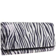 BCBGeneration Laurel Foldover Clutch Bag – White