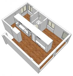 room cirulation drawing plan 7 Small Apartment Renovation Ideas with Two Bedroom, Ein Gedi St Apartment by SFARO Small Apartment Plans, Small Apartments, Small Spaces, Tiny House Plans, House Floor Plans, Lofts, Huge Mansions, Diy Home Furniture, Appartement Design