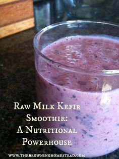 Raw milk kefir smoothies are a great way to pack in probiotics, protein, and good fats. Your kids will love this too!