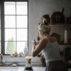 Coffee ritual and wonderful kitchen