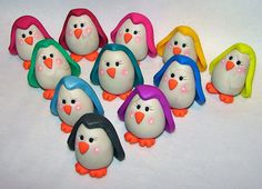 NEW CHUBBY PENGUINS - Polymer Clay Figurine Series - Limited Edition Figurines by @KatersAcres