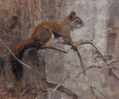 Ralph Oberg,    Red Squirrel 10x12