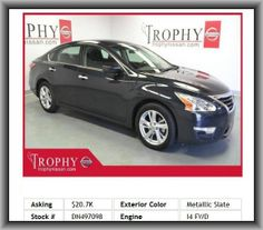2013 Nissan Altima 2.5 SV Sedan   Transmission Hill Holder, Remote Power Door Locks, Overhead Console: Mini With Storage, Bluetooth Wireless Phone Connectivity, Overall Length: 191.5, Front Ventilated Disc Brakes, Two 12V Dc Power Outlets, Side Airbag, Rear Stabilizer Bar: Regular, 211 Lbs., 4-Wheel Abs Brakes, 4 Door, Clock: In-Radio Display, Variable Intermittent Front Wipers, Rear Leg Room: