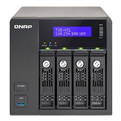 http://www.computersandmore.info/qnap-tvs-471-i3-4g-us-4-bay-intel-core-i3-3-5ghz-dual-core-4gb-ram-4lan-10g-ready-tvs-471-i3-4g-us-review/ - The TVS-471 is a powerful NAS storage solution designed for I/O-intensive tasks mission-critical business applications and fast-growing data storage needs....