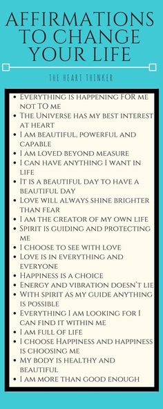 Simple Thoughts and Affirmations to Enrich Your Life