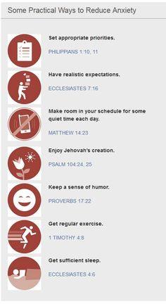 Reduce Anxiety! Practical Advice!