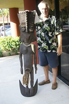 5 Ft + Handcarved Primitive Suspension Skull Carved Hook Sepik Oceanic Art 30A4. If you cannot  locate this listing, please contact us at cheetahdmr@aol.com