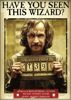 This is a licensed 2.5″ x 3.5″ magnet featuring the wanted poster of Sirius Black as seen in the Harry Potter movie The Prisoner of Azkaban.