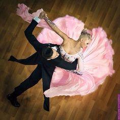 Pink ballroom standard dress
