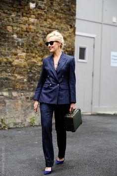 International Fashion editor for The Rake magazine Sarah Ann Murray. Ewer Street, after Alexander McQueen menswear, LCM LFW FW15. London Street Style Fashion.