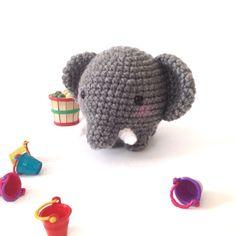 Chubby Elephant Plush Amigurumi Elephant Crochet  by AmiAmiGocco
