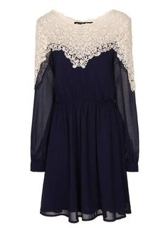 lace Long Sleeve Dress - Little Mistress - View All Clothing Brands - Clothing