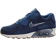 1f5a90431aa88 nike Air Max 90 PRM Suede Womens Running Trainers 818598 Sneakers Shoes US  8 mid navy