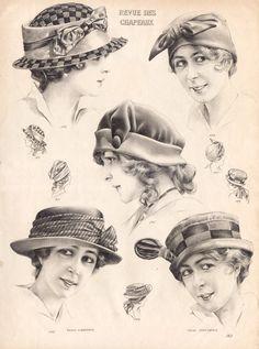 Vintage Hats for Women illustrations | vintage-stock-graphics-fashion-womens-hats-revue-des-chapeaux-0009