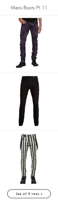 """""""Mens Boots Pt 11"""" by thwgi ❤ liked on Polyvore featuring jeans, mens pants, skinny jeans, skinny fit jeans, hot topic, hot topic jeans, acid washed jeans, men's fashion, men's clothing and men's jeans"""