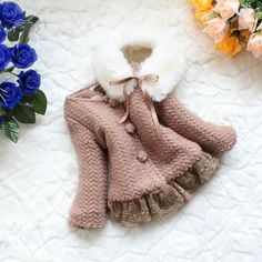 baby clothes baby girl gown autumn spring winter coat kid brown coat gown from babygirldress on Etsy. Baby Girl Items, My Baby Girl, Baby Girls, Cute Outfits For Kids, Toddler Outfits, Toddler Fashion, Kids Fashion, Caramel Baby, Gowns For Girls