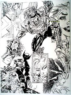 Inked comic book compilation by ~AMZNFX