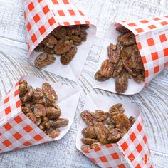 I pack these easy candied pecans in jars tied with pretty ribbon for family and friends. Pecan Recipes, Candy Recipes, Sweet Recipes, Holiday Recipes, Cooking Recipes, Christmas Snacks, Christmas Cooking, Christmas Candy, Xmas
