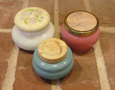 VIntage Avon Containers set of 3 by BellaLeeBottles on Etsy, $10.00 #antique #avon #homedecor
