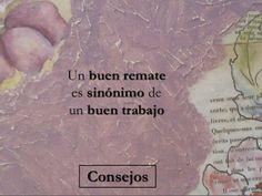 Un buen remate es sinónimo de un buen trabajo by Caridad Yáñez Barrio via slideshare