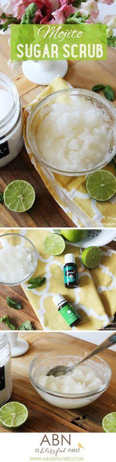Mojito Sugar Scrub Recipe on www.ablissfulnest.com