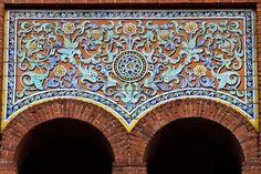 Architecture Details of Arena Plaza de Toros de Las Ventas, Madrid, Spain