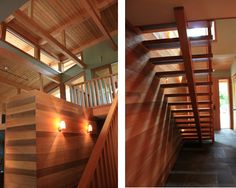 lovely stairs: tofino, bc, chan house. design by blue sky architecture.