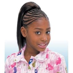 """Freetress Synthetic Drawstring Ponytail For Kids - Yaky Straight 10"""""""