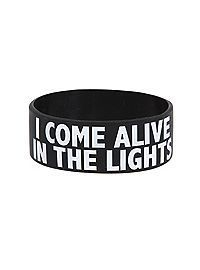 BLACK WHITE YOLO Wristband YOU ONLY LIVE ONCE Motto Inspired Music Theme Band
