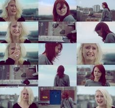 """Naomily Rooftop Scene, """"Can't we just go home?"""" """"I don't think so. Skins Generation 2, Lily Loveless, Lgbt, Skins Uk, Best Tv Shows, My Heart Is Breaking, Girls In Love, Pop Culture, Polaroid Film"""