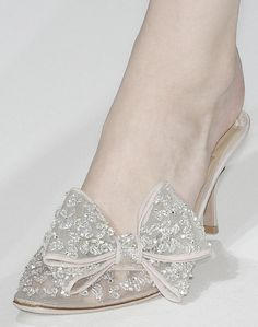 like Cinderella slippers with a bow!