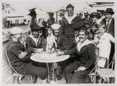 WORLD WAR ONE WW1 ORIGINAL PHOTO - BRITISH, FRENCH & AMERICAN SAILORS