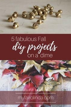Five Fabulous Fall DIY Projects on a Dime - Pin me!