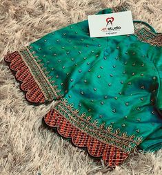 Kids Blouse Designs, Saree Blouse Designs, Aari Embroidery, Work Blouse, Sleeve Designs, Embroidered Blouse, Boho Shorts, Studio, Outfits